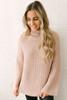 Tasha Mock Neck Open Knit Sweater - Mauve  - FINAL SALE