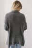 Harper Soft Eyelash Draped Cardigan - Charcoal Olive - FINAL SALE