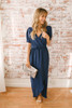 Everly High Low Tulip Maxi Dress - Navy  - FINAL SALE
