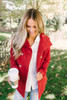Martha's Vineyard Double Button Peacoat - Red