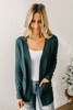 Down By The Bay Knit Cardigan - Hunter Green  - FINAL SALE