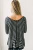 Free People Tangerine Long Sleeve Stripe Tee - Black/White - FINAL SALE