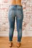 Atlantic Avenue Distressed Skinny Jeans - Medium Wash - FINAL SALE