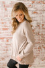 At the Lodge Soft Brushed Pocket Tunic - Taupe  - FINAL SALE
