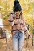 BB Dakota Autrey Striped Sweater - Camel/Black  - FINAL SALE