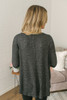 Thermal Button Down Knot Top - Black - FINAL SALE