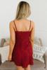 Jack by BB Dakota Lace the Music Dress - Maroon - FINAL SALE