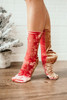 Free People Colorblock Velvet Socks - Pink/Gold - FINAL SALE