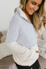 Snow Bunny Colorblock Pullover - Baby Blue/Ivory  - FINAL SALE