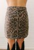 As If Denim Leopard Skirt - Brown Multi - FINAL SALE