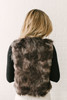 BB Dakota Foxy Lady Faux Fur Vest - Grey Multi - FINAL SALE