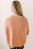 Claire Open Detail Sleeve Sweater - Dusty Coral - FINAL SALE