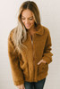 Copenhagen Teddy Bear Bomber Jacket - Camel - FINAL SALE