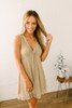 Angel Wishes Metallic Knot Dress - Champagne