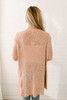 Stay with Me Open Knit Pocket Cardigan - Dusty Pink