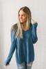 According To You V-Neck Sweater - Marine Blue