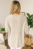 Holiday Travels Open Knit Sweater - Oatmeal - FINAL SALE