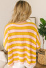 Sunshine Stonewashed Striped Sweater - Mustard/Pink/Coral - FINAL SALE