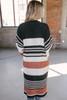 Rising Sun Striped Chenille Cardigan - Black Multi