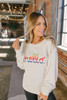 Hello Rainbow Embroidered Sweatshirt - Beige - FINAL SALE