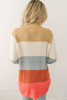 Love On Top Colorblock Knit Sweater - Taupe Multi