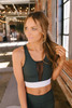 Colorblock Mesh Sports Bra - Green - FINAL SALE