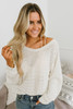 Free People Hacci Open Weave Top - Ivory