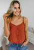 Free People Place For You Bodysuit - Terracotta