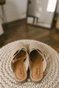 Svetlana Cross Front Ballerina Mules - Beige - FINAL SALE