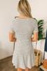 Short Sleeve Button Down Skater Dress - Ivory/Black - FINAL SALE