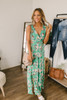 Cabana Dreams Floral Maxi - Green Multi