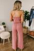 Sweet Harmony Strapless Jumpsuit - Marsala