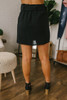Tortoise Buckle Paperbag Skirt - Black
