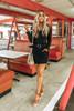 Tortoise Buckle Paperbag Skirt - Black  - FINAL SALE