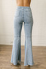 By Together Distressed Hem Faded Flare Jeans- Light Wash  - FINAL SALE