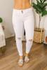 Hampton Villa Distressed Skinny Jeans - White - FINAL SALE