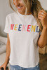 Weekend Graphic Tee - White Multi