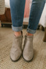 Fountain Square Perforated Bootie - Taupe - FINAL SALE