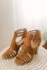 Cadence Strappy High Heeled Sandals - Chestnut - FINAL SALE