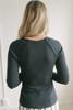Long Sleeve Bolero Ribbed Knit Top - Black