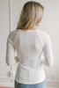 Long Sleeve Bolero Ribbed Knit Top - Ivory