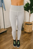 Sideline Printed Varsity Leggings - Black/White