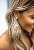 Textured Tassel Earrings - Tan/Gold