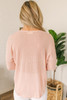 Everly V-Neck High Low Ribbed Top - Pink - FINAL SALE