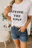 Tying The Knot Tee - White/Black