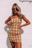 BB Dakota Total Betty Plaid Dress - Lemon Drop - FINAL SALE