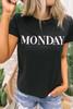 BB Dakota Day Dreaming Monday Tee - Black -  FINAL SALE