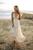 Paradise Island Scalloped Lace Maxi - Natural