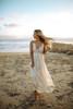 Paradise Island Scalloped Lace Maxi - Vanilla