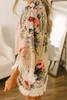 Victorian Garden Floral Fringe Kimono - Latte Multi